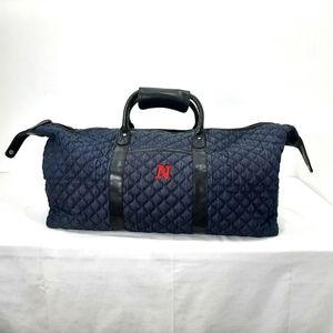 Nine West quilted denim weekend/overnight/duffle